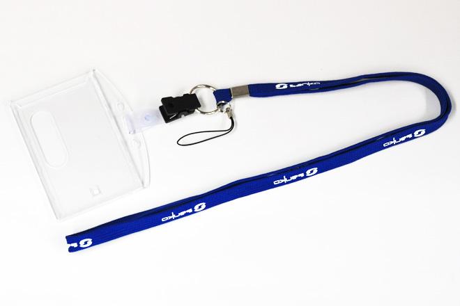 計測機器メーカーのスタッフ用ネックストラップ