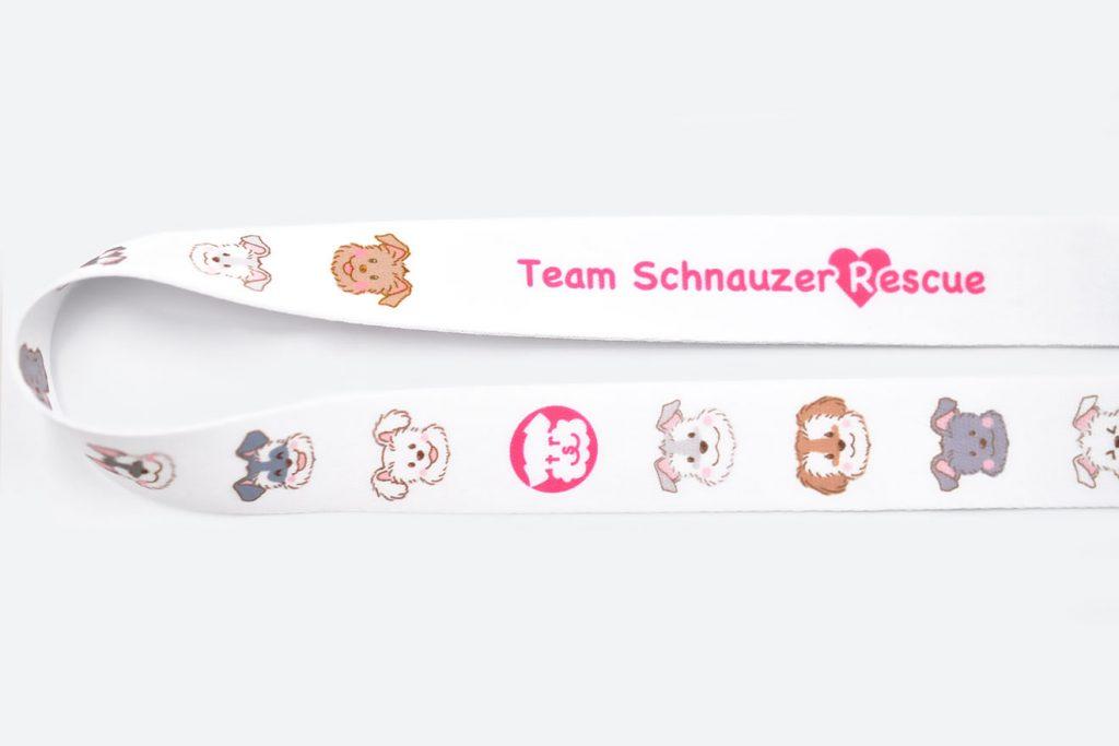 シュナウザー保護チーム「TSR」のオリジナルネックストラップ